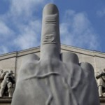 Maurizio-Cattelan-Middle-Finger-Statue