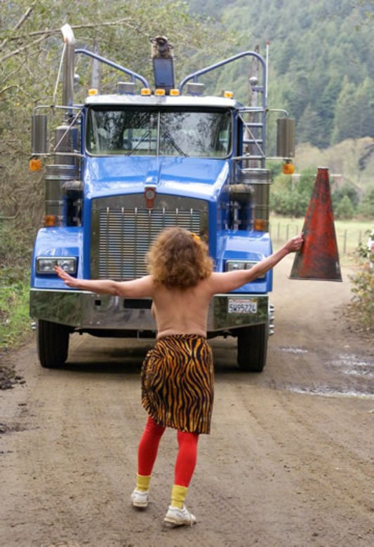 Striptease to save the trees