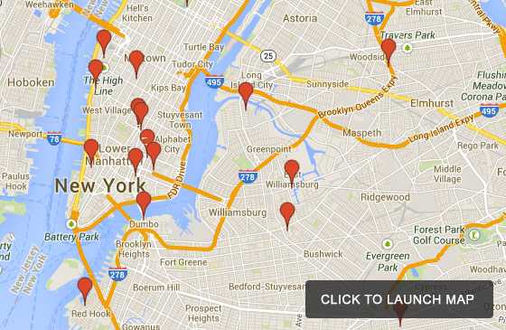 Map Of Nyc Michelin Restaurants