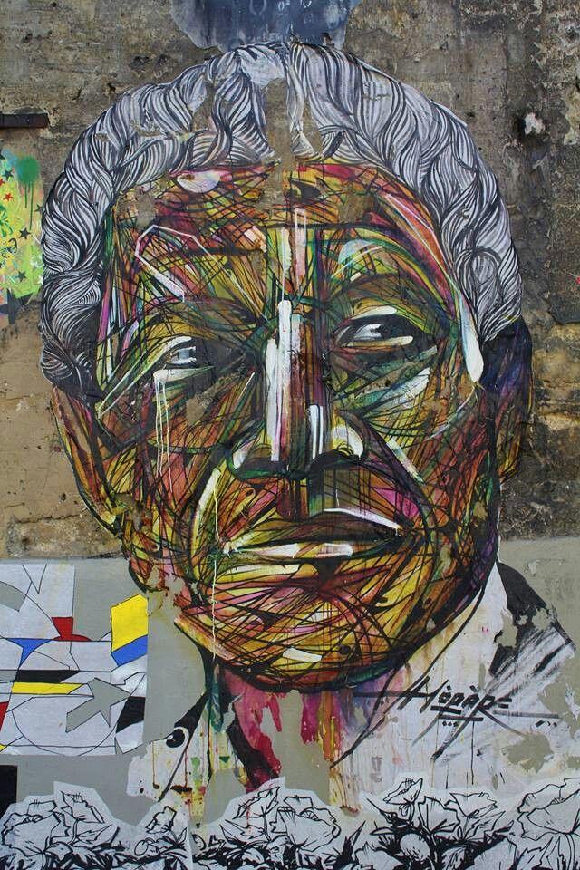 French-graffiti-artist-Hopare-mural-Nelson-Mandela