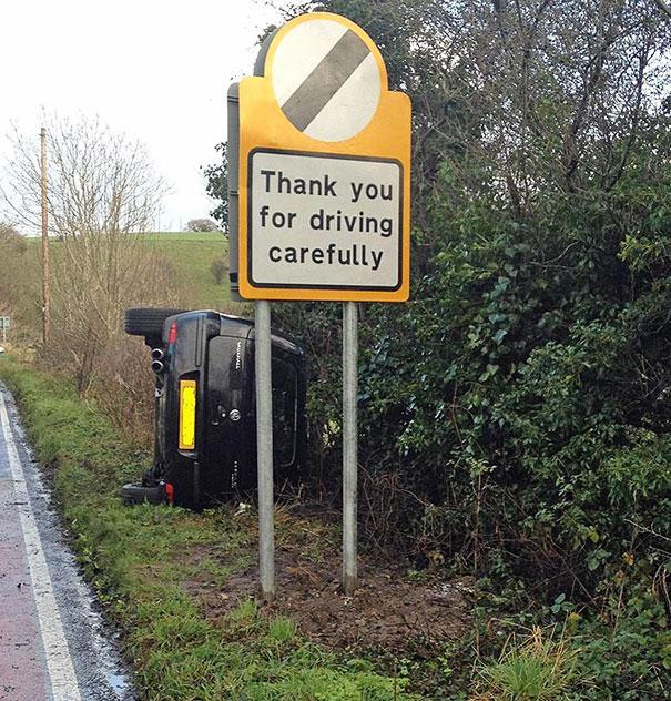 תודה שנהגת בזהירות