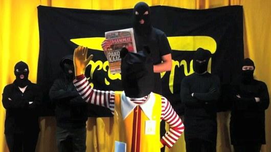 חטיפתו והוצאתו להורג של רונלד מקדונלד / צבא שחרור המזון, פינלנד, 2011.