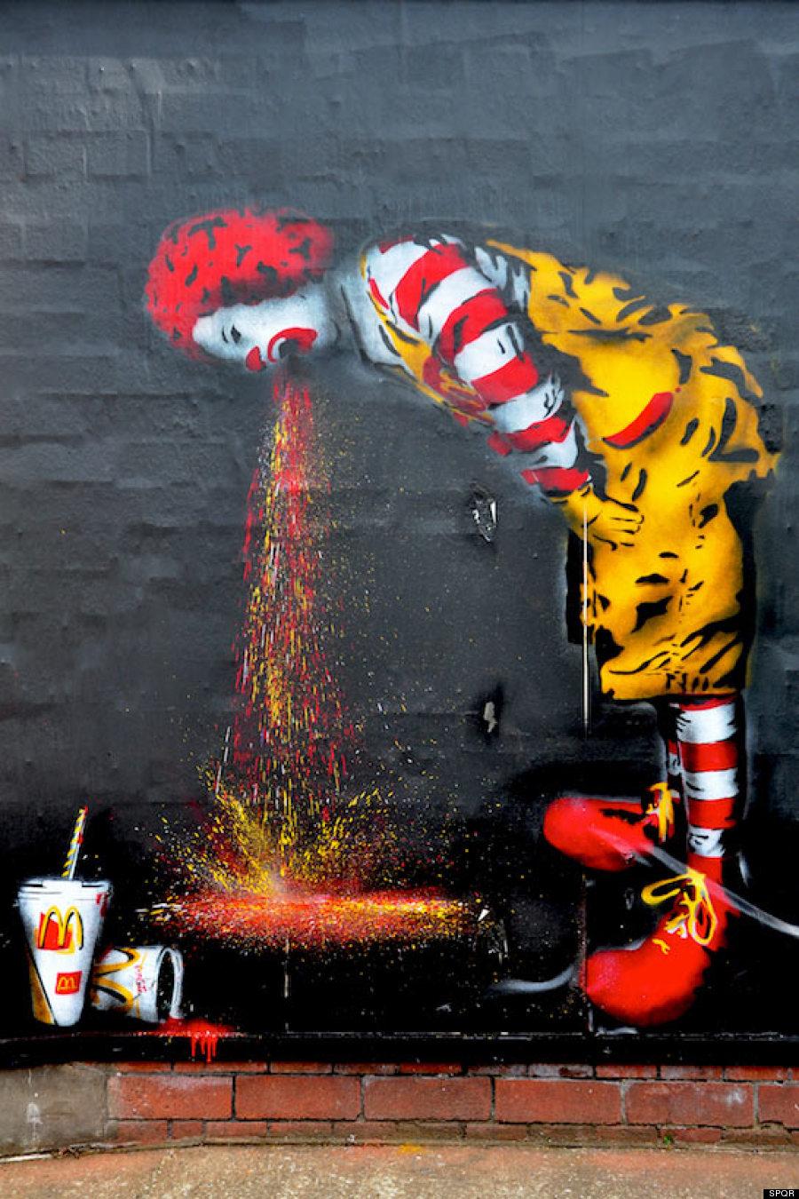 אמן הרחוב SPQR, בריטניה, 2009.