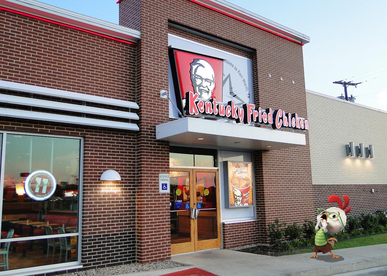 צ'יקן ליטל מזועזע מול סניף KFC