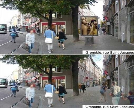 רחוב בעיר גרנובל - לפני ואחרי