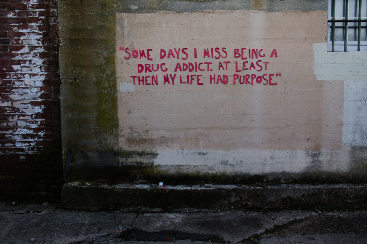 יש ימים שבהם אני מתגעגע לתקופה שבה הייתי מכור לסמים. לפחות אז היתה תכלית לחיים שלי
