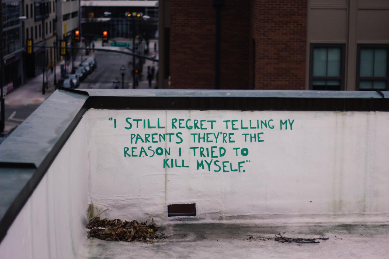 אני עדיין מתחרט על זה שאמרתי להורים שלי שהם הסיבה לכך שניסיתי להתאבד